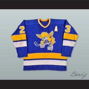 WHA 1974-75 Minnesota Fighting Saints Mike McMahon 23 Away Hockey Jersey Custom Any Name Any Number Free Shipping Tamaño S-XXXL