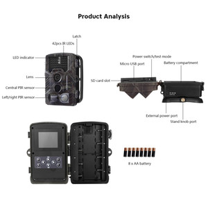 Outlife HC-800M Hunting Camera 16MP Digital 2G Hunting Night Vision Camera GSM GPRS Wireless Wildcamera Digital Traps Camera