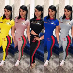 Kadınlar Marka Artı boyutu Sonbahar Kış Giyim Capris Kazak 2 Adet Tozluklar S-3XL Spor Suit Kıyafetler Pantolon tişörtler ayarlar Spor 415