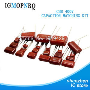 50pcs CBB Metallized Polyester Film Capacitors Assortment Kit 0.022UF-3.3UF 400V 10ValuesX5PCS CBB22 Polypropylene Capacitor
