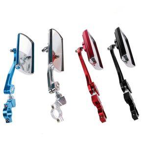 Radfahren Fahrrad Rückspiegel Lenkerhalterung 360 ° Rotating Aluminium Sicherheits-Rückspiegel für Fahrrad-Motorrad heißen Tropfen