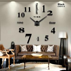 2019 sıcak satış 3d duvar saati büyük boy moda ev oturma odası yatak odası yemek odası dekorasyon akrilik ayna duvar saati D19011702