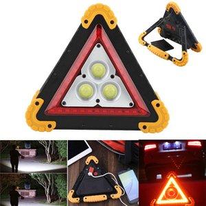 신호등 경고 알루미늄 합금 조명 관리 50W 삼각형 자동차 수리 경고 램프 캠핑 빛 COB LED USB 휴대용 홍수