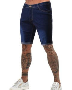 Summer Mens Short Jeans Fashion Natural Color Shorts Casual Zipper Fly Knee Length Jeans Mens Clothing