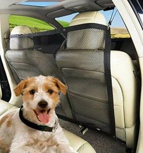 Aislamiento Nueva perro de mascota neto de coches Barrera del asiento trasero del vehículo Perros red de seguridad Puerta de malla