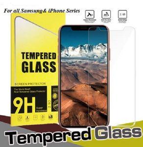 Mejor protector de pantalla para Samsung Galaxy S10 S10e S8 S9 Plus 5G Nota 8 9 J6 J8 9H 2.5D Película de vidrio templado para iPhone 6 6S 7 8 X XS XR Máx