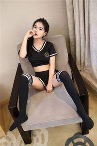 Plus Size 4XL Sexy Cosplay Lingerie Student Uniform Set Costume Sexy School Girl Cheerleader Babydoll vestido Mulheres Miniskirt Fora
