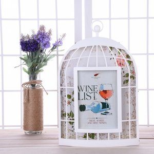 7 polegadas criativa Bird Cage quadro dado forma da foto PVC Photo Frame Home Decor