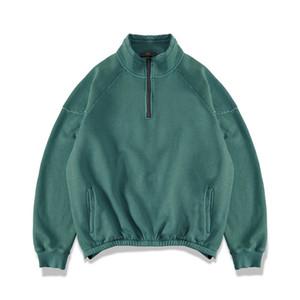 PADEGAO 100% coton pour hommes Sweat-shirts et de la rue américaine européenne Hip-hop Zip Pull PDG1416