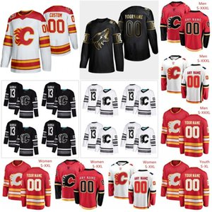 Calgary Flames Jerseys Johnny Gaudreau Jersey Matthew Tkachuk Elias Lindholm Noah Hanifin Mark Giordano Ice Hockey Jerseys Custom Stitched
