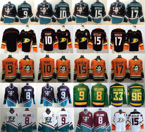 Mighty Anaheim Ducks Jersey Hockey 15 Ryan Getzlaf Jakob Silfverberg Rickard Rakell Teemu Selanne Paul Kariya Charlie Conway Gordon Bombay