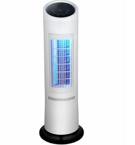 Electric fan water cooling tower fan remote control floor silent desktop fan leafless air conditioning cooling