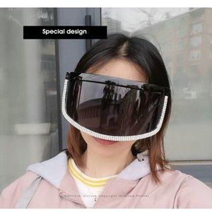 Crystal oversized shield visor sunglass ROSANNA Sexy Oversized Shield Visor Sunglasses Women New Designer Big Frame Mirror Sun Glasses vztRW