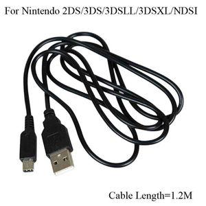 Pour Nintendo 3DS Câble 3DSLL NDSi 2DS 3DSXL USB Chargeur Câble de charge Cordon fil 1.2m jeu Power Line
