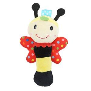Poupée en peluche de bébé BIBI Bar Bâton Rattle en peluche hibou Bee animal Siffleur Jouets bébé Marionnette Lumières