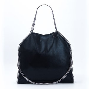 High Leather Handbags Mccartney Big Fashion Bag Free Tote Soft PVC Shipping Women Quality Stella Size 3 Chain Hasp Awdek