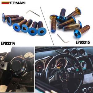 Epman 6Pcs Burnt Titanium (Neochrome) m5 Steering Wheel Bolt Screw Kit Fit steering wheel Works Bell Boss Kit EPDS314 EPDS315