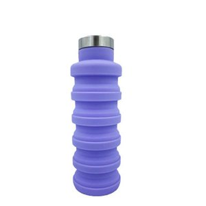 Collapsible Silicone Water Bottle Foldable Water Kettle Outdoor Travel Collapsible Sport Drink Kettle Creative Retractable Cups