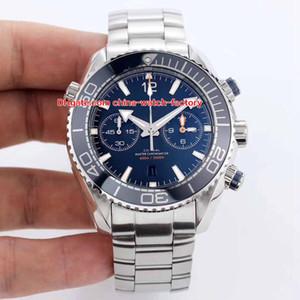 6 Estilo Mejor OM Edición 45.5mm Planet Ocean Co-Axial 600M 904L Acero Cronógrafo Suizo CAL.9900 Movimiento Reloj automático para hombre Relojes