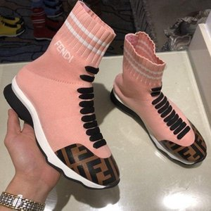 Classic Ladies Spring And Autumn Short Boots Fashion Personality Socks Shoes Round Head Flat Sole Short Boots 110203