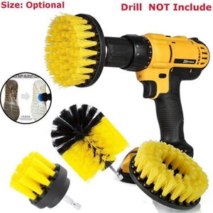 3 unids / set Power Scrubber Brush Set para baño cepillo de fregado de la broca para la limpieza Kit de accesorios de taladro inalámbrico Power Scrub Brush