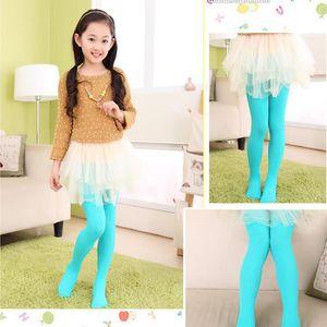 طفل أطفال اللباس الداخلي فتاة اللون كاندي المخملية مطاطا يغطي أداء الباليه الرقص جوارب الجوارب فتاة نقية اللون بنطلون WY211Q