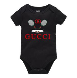 Verano del bebé del mameluco de manga larga diseñador de lujo de la marca infantil del bebé de los mamelucos recién nacidos ropa de bebé Onesies 0-24CM