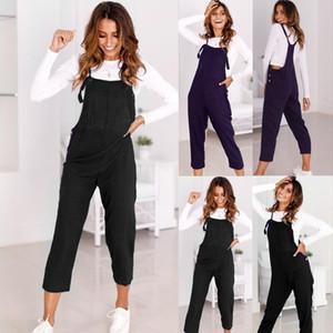 bodysuit Women Summer Casual Spaghetti Strap Wide Legs Bodycon Jumpsuit Trousers Clubwear Rompers fashion2019 dropship