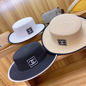 패션 2020 차양 모자, 자외선 차단제 어부의 모자 밀짚 다양한 조수 간단한의 한국어 버전 일본어 아름다운 모자를 엮은