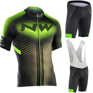 NW 2019 NORTHWAVE Verano Hombres Ciclismo Jersey manga corta conjunto babero cortos transpirables bicicleta ropa Gel Pad ropa