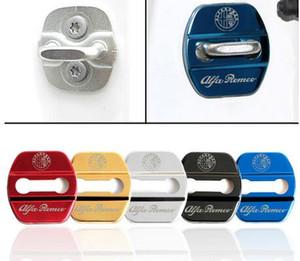 Auto Car Styling Cover Door Lock Case Para Alfa Romeo Giulietta Stelvio Emblemas Fivela Car-Styling