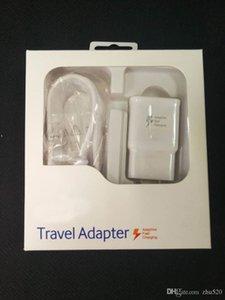 2 in1 Schnell-Ladegerät Kits Schnelllade Ladegerät Adapter + 1.5M USB-Kabel Schnell Adaptive Travel Adapter mit Kleinpaket für smausng S6