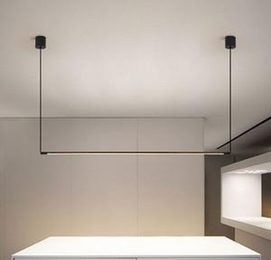 Minimalista jantar Mesa Faixa Pendant lâmpada LED Sala de jantar escritório moderno Luzes Pingente Designer Lâmpadas de suspensão aparelho de iluminação MYY