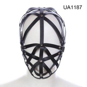 Strappy Harness Faux Bladfold Bondage Mask 갇힌 # R52Jouts 페티쉬 후드 성인용 Sexuelstoys Dxxdo