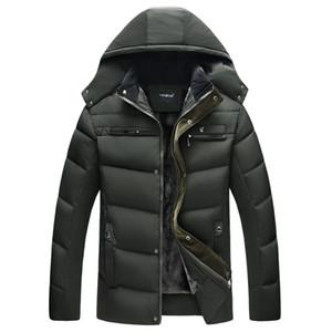 YZBZJC 2018 Man Parka Thicken Warm Jacket Casual Hooded Outwear Cotton Padded Coats Winter Windbreakers Clothings Men