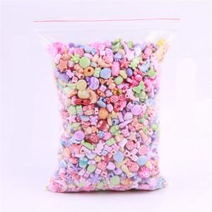 500G / Set Diy 아크릴 비즈는 쥬얼리 제작 액세서리 목걸이를 제작합니다 Bracelet Girl Developmental Toys Kids Beads Kits Best Gift