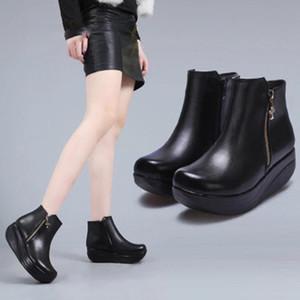 Горячие Продажи - Женщины Тонировка Обувь Зима Теплый Большой Большой Размер43 Кроссовки Женщины Новый Высота Увеличение Женщин Качели Обувь Фитнес Обувь