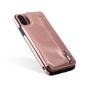 IPhoneXS MAX için sıcak satış fermuar çok fonksiyonlu xr telefon kılıfı Samsung S9 cep telefonu kılıfı toptan fiyat