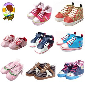 Risunnybaby Newborn Baby Shoes First Walkers Tollder Canvas Shoes Sports Sneakers Infant Toddler Soft Sole Anti-Slip Baby
