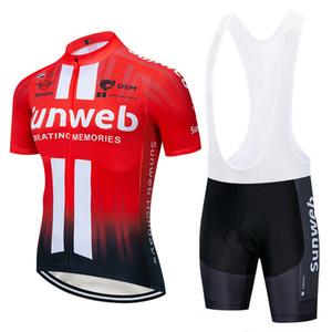 2019 برو فريق فريق sunweb الأحمر الدراجات جيرسي مجموعة دراجة مايوه تنفس mtb سريعة الجافة دراجة الملابس روبا ciclismo هلام وسادة