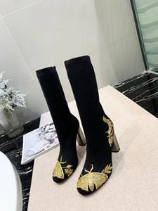 الأحذية النمط الأوروبي الكلاسيكي الأحذية الفاخرة مصمم الأزياء ومي جزمة الأزياء والأحذية إغلاق مارتن مطرزة الأحذية جورب