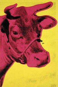 Art Painting Cow Red on Yellow, 1966 by Andy Warhol Home Decor Handpainted Oil Paintings On Canvas Wall Art Pictures 200602