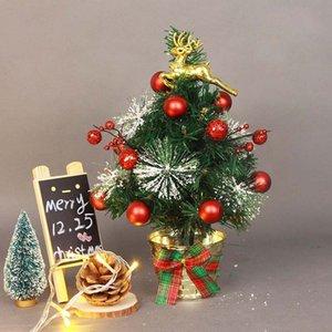 Novo Design 30 centímetros de Ouro Elk Decore Artificial Reunindo árvore de Natal Multicolor férias Xmas Janela Decorações de Natal Para Casa