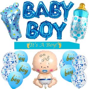 Dekorasyon için Boy Bebek Boy Kanat Erkek Bebek Folyo Balonlar Büyük Biberon Balon Balonlar