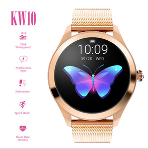IP68 Waterproof Smart Watch Women Lovely Heart Rate Monitor Sleep Monitoring Smartwatch Connect IOS Android KW10 band Smart Bracelet
