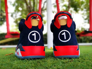 2019 Новый 6 VI DB Doernbecher низкие мужчины Баскетбольная обувь 6S тренажеры спортивные темно-синие кроссовки на улице качество TOP