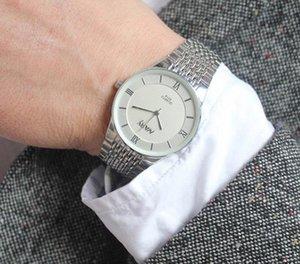 2020High качества мужчины и женщины студентов простой тенденции моды кварц календарь часы водонепроницаемые часы с бриллиантами подарок таблица