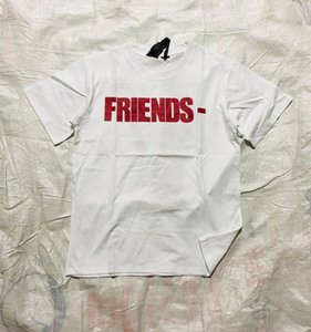 2019 New Vlone Friends Skateboard T Shirt Men Women White Red Hip Hop Short Sleeve Vlone Mens Stylist T Shirt Tees
