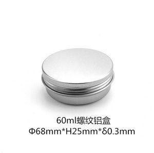60ml Alüminyum Kavanozları Dudak küpünün 60g Kozmetik Konteyner Gümüş Kremi Konteyner Teneke şişe Ücretsiz Kargo