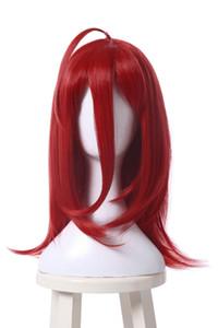 مجانا shippingnew أزياء الساخنة سينابار لامع الأحمر تأثيري متوسطة شعر مستعار بوب